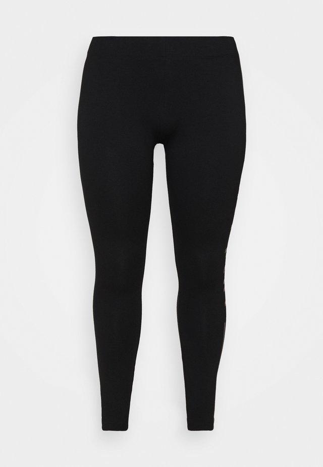 ONPJUTA LIFE  - Legging - black/deep taupe