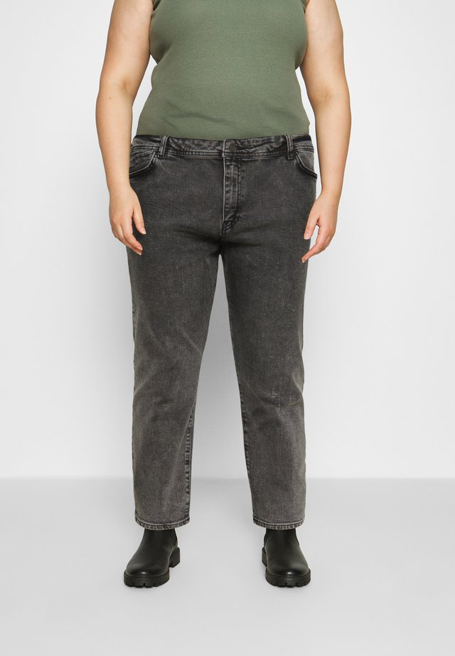 NMOLIVIA - Džíny Straight Fit - dark grey denim