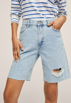 BERMUDA  - Jeans Shorts - light blue