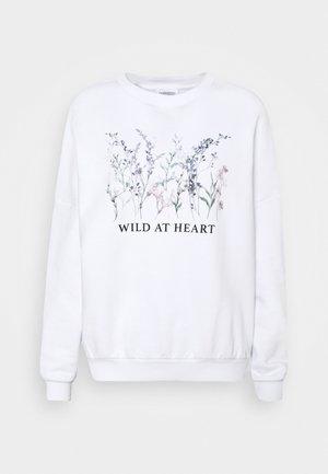 OVERSIZED PRINTED SWEATSHIRT - Sweatshirt - white