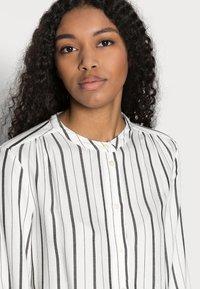 GAP Petite - SHIRRED - Button-down blouse - black white stripe - 3