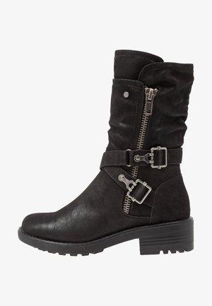 Kowbojki i obuwie motocyklowe - black