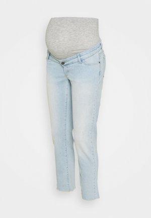 MLBELLE CROPPED - Straight leg jeans - blue denim