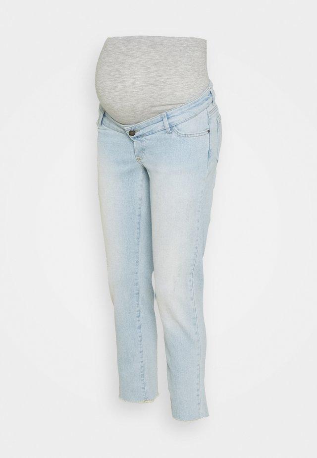 MLBELLE CROPPED - Jeans a sigaretta - blue denim