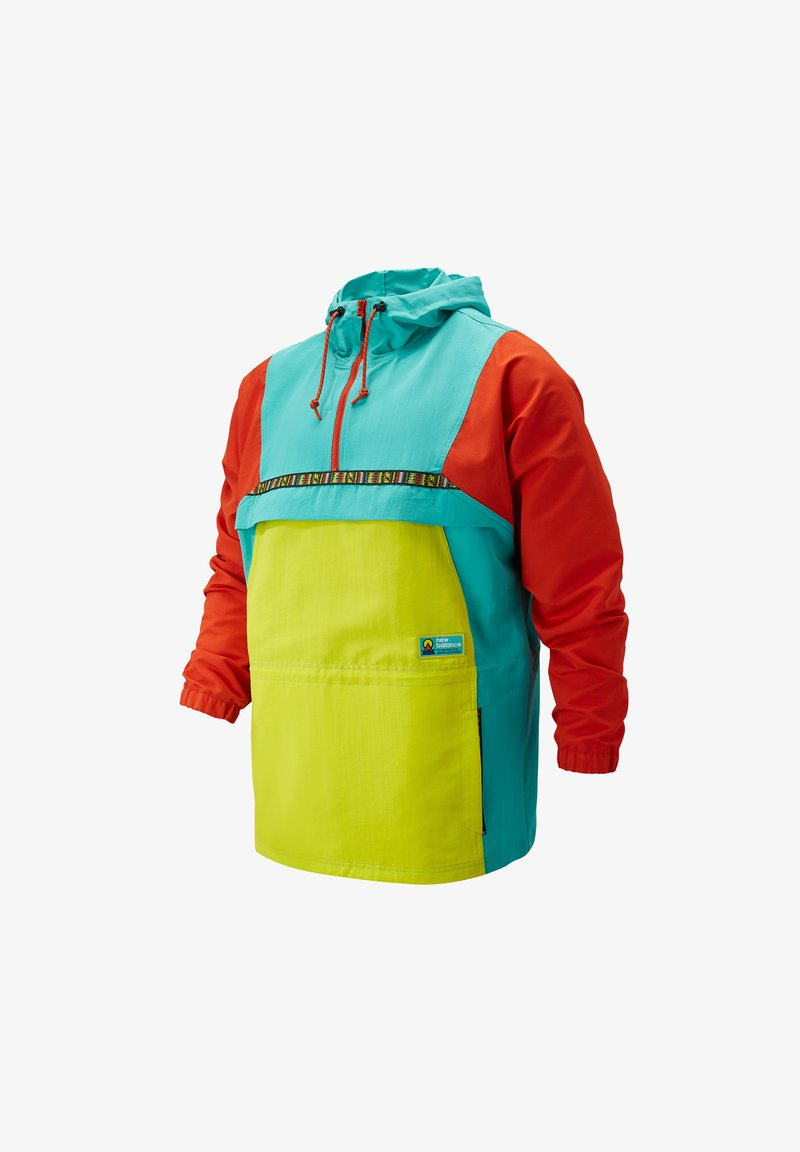 New Balance - ATHLETICS UNISEX TRAIL ANORAK - Giacca a vento - sulphur yellow