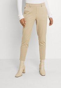 Object - OBJLISA SLIM PANT - Kalhoty - beige - 0