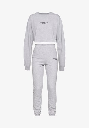 CROP AND JOGGER SET - Sweatshirt - grey marl