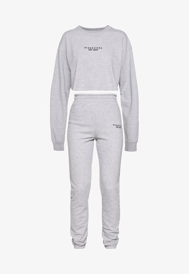 CROP AND JOGGER SET - Sweater - grey marl