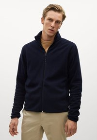 Mango - FLUFFY - Fleece jacket - dunkles marineblau - 0