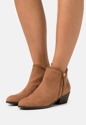 BELLA SIDE ZIP  - Ankle boots - tan
