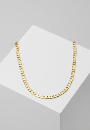 FLAT LINK CURB CHAIN SINGLE NECKLACE - Necklace - gold-coloured