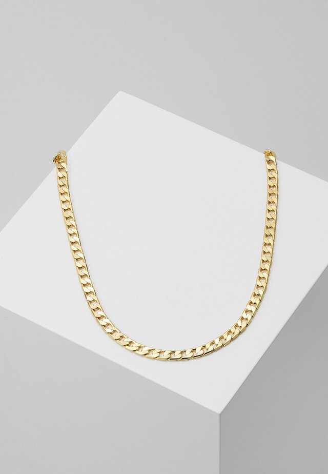 FLAT LINK CURB CHAIN SINGLE NECKLACE - Collar - gold-coloured
