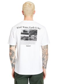 Timberland - ARCHIVE BACK WWES - Basic T-shirt - white - 2