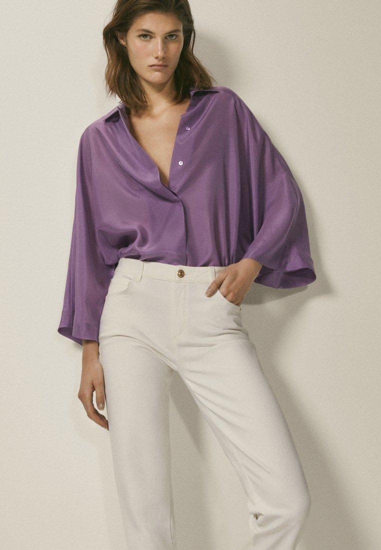 Massimo Dutti - Button-down blouse - dark purple