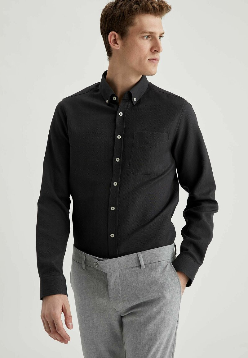 DeFacto - Formal shirt - anthracite