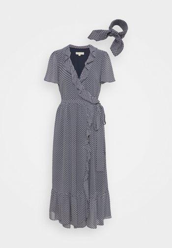 PRINTED MIDI DRESS - Day dress - blue