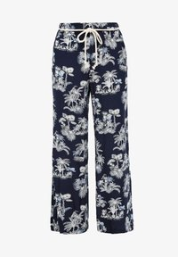 s.Oliver - ALLOVER-PRINT - Trousers - dark blue aop palms - 5