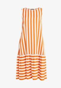 Bruuns Bazaar - VENESSA ZEENA DRESS - Freizeitkleid - burnt copper/white - 4