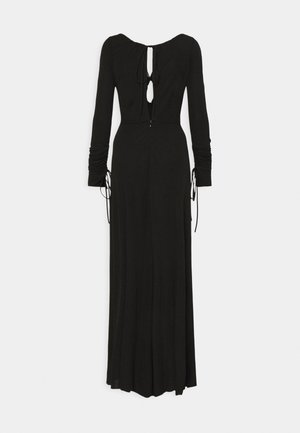 GATHERED KEY HOLE DRESS - Vestito lungo - black