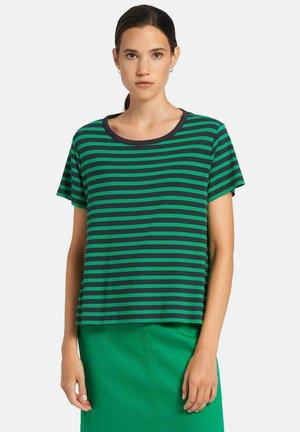 T-shirt print - marine/grün