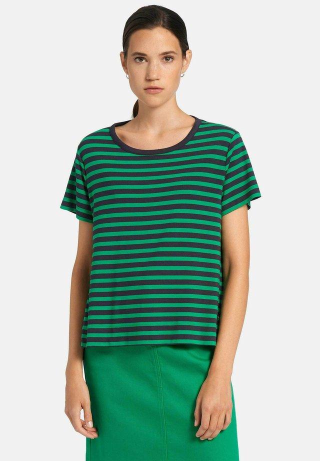 Print T-shirt - marine/grün