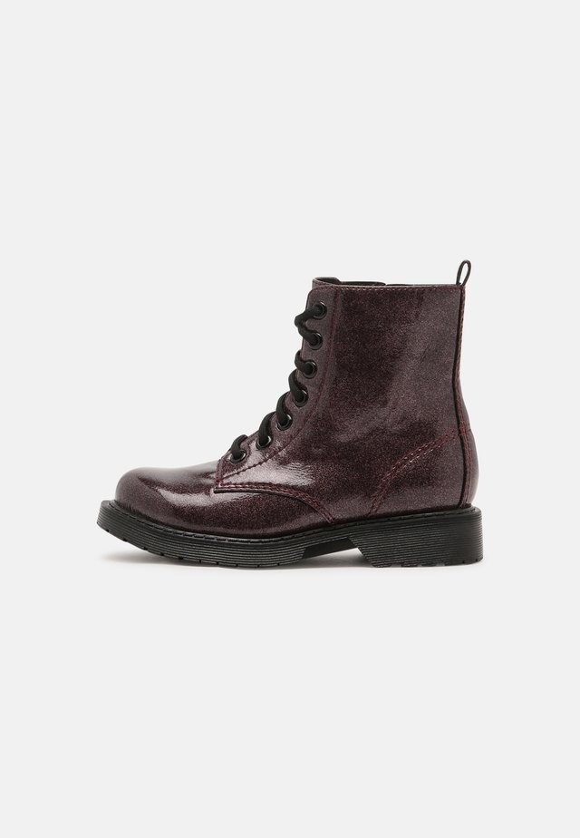 JDEAN - Lace-up ankle boots - burgundy