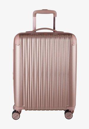 Wheeled suitcase - rose metallic