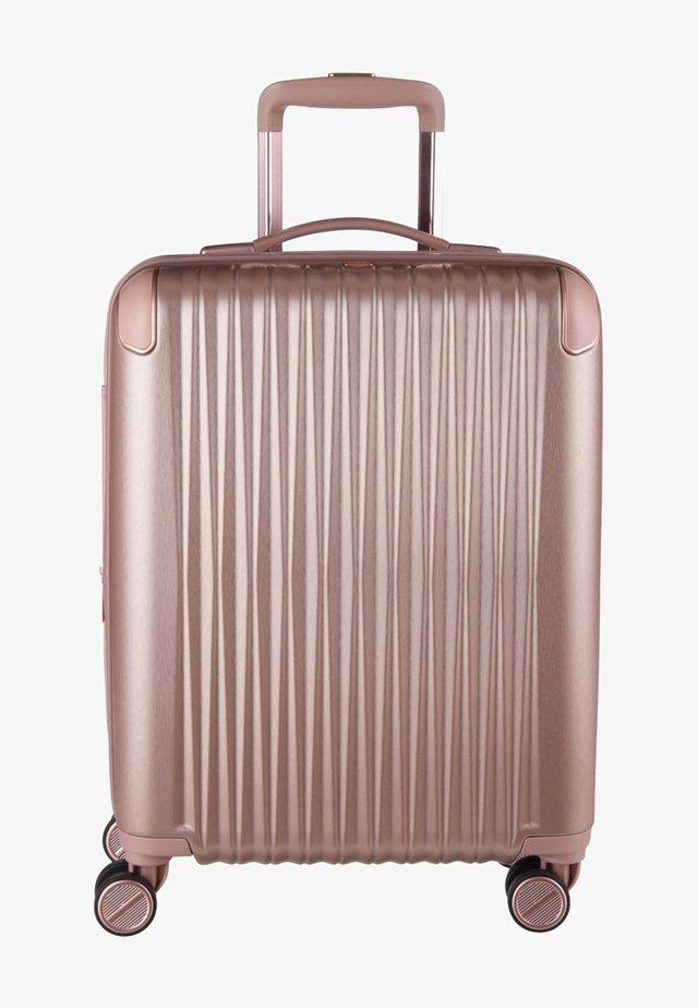 Valise à roulettes - rose metallic