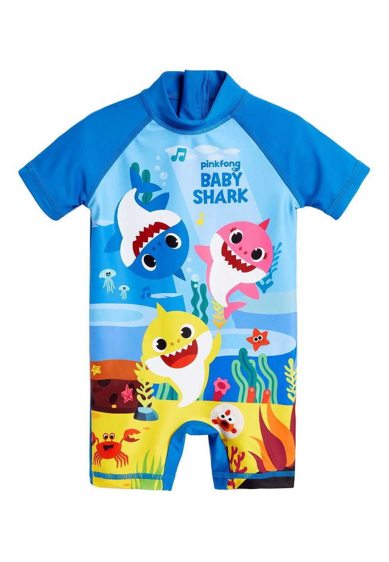 Next - MULTI BABY SHARK SUNSAFE SWIMSUIT (3MTHS-7YRS) - Badpak - blue