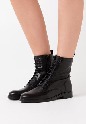 POLO  - Lace-up ankle boots - black