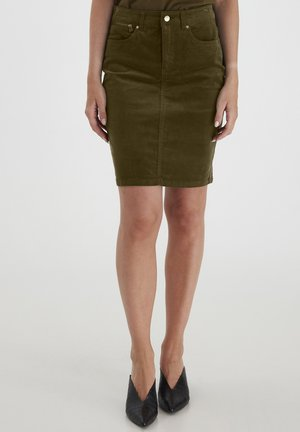 Pencil skirt - green ink