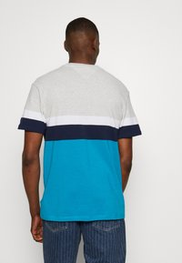 Tommy Jeans - GRAPHIC COLORBLOCK TEE - Print T-shirt - pale grey heather/multi - 2