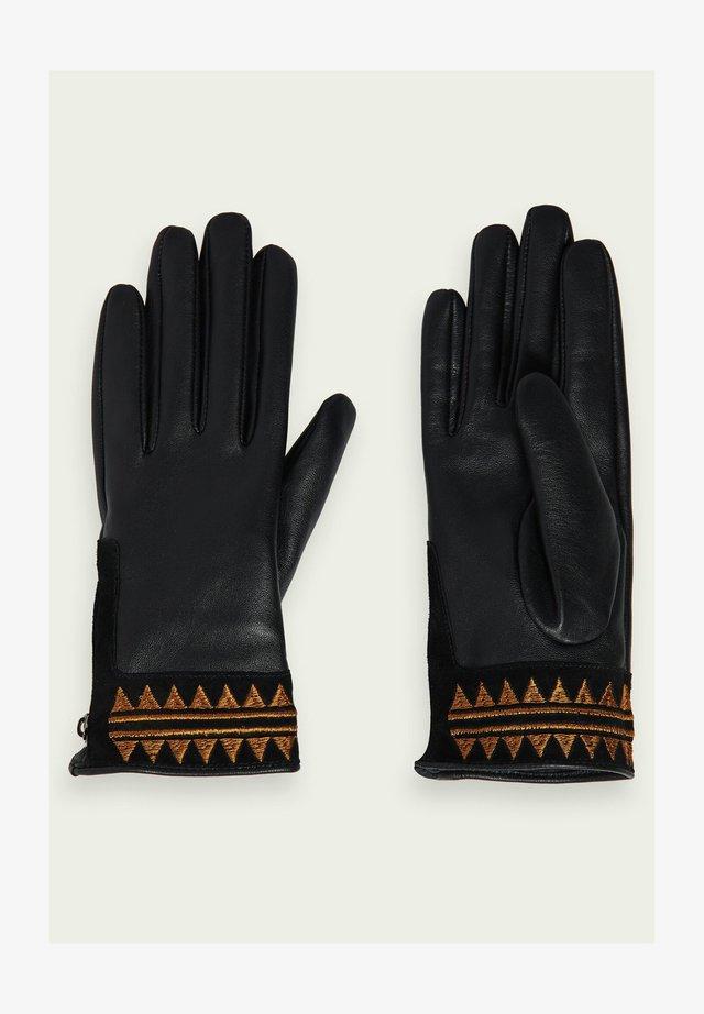 EMBROIDERED - Handschoenen - black