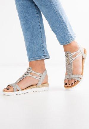 Wedge sandals - grau/nebel-silber