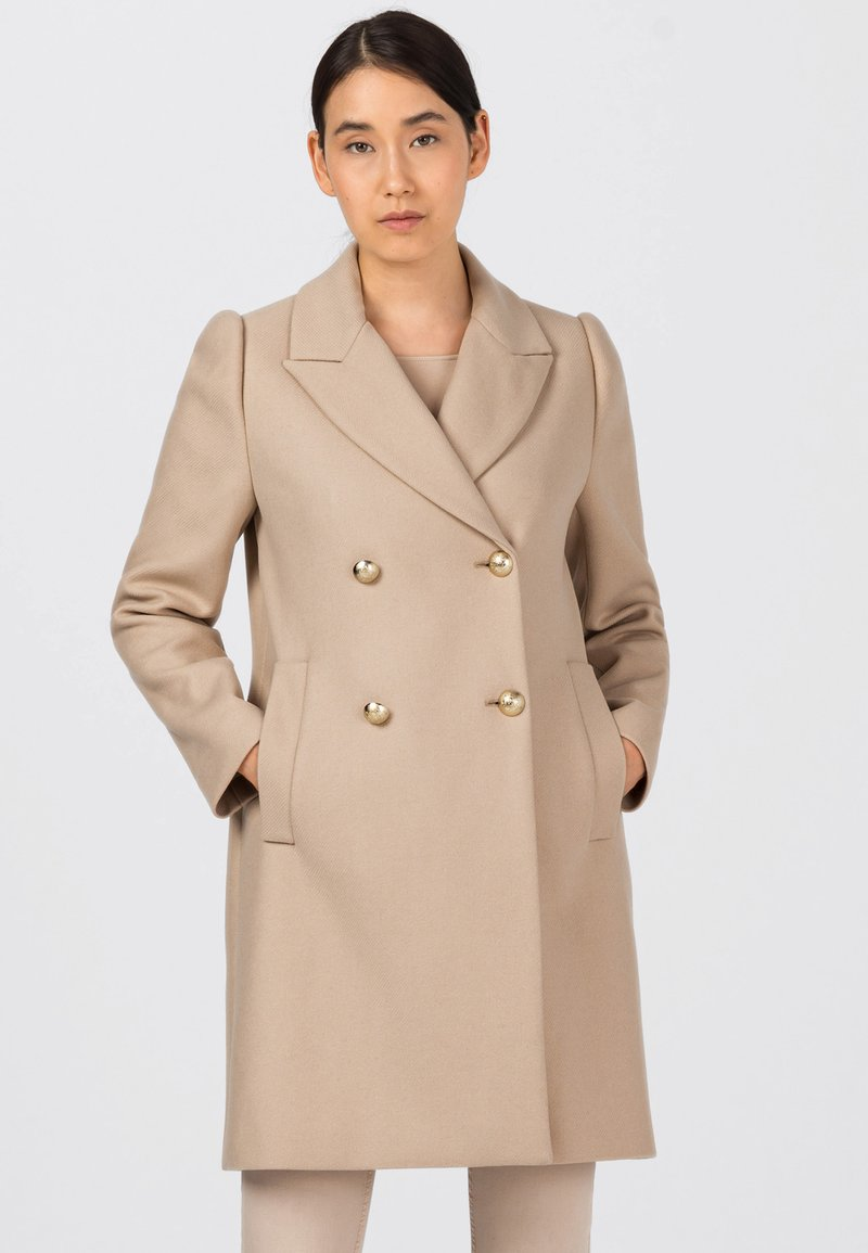 HALLHUBER - Classic coat - milchkaffee
