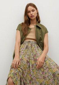 Mango - PALMA - Maxi skirt - green - 3
