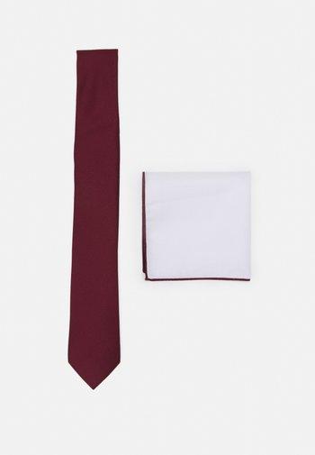SET - Kapesník do obleku - bordeaux