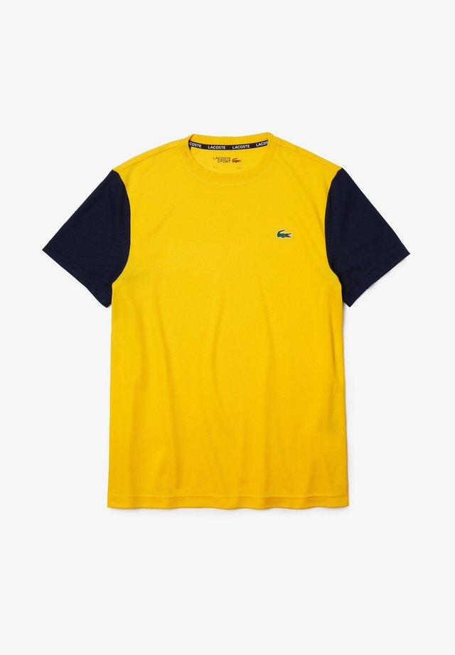 TENNIS - T-shirt imprimé - gelb / navy blau
