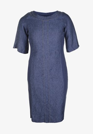 LEINENKLEID IM DENIM-STIL - Denim dress - marine