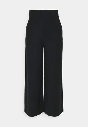 SANNA CROPPED - Trousers - black
