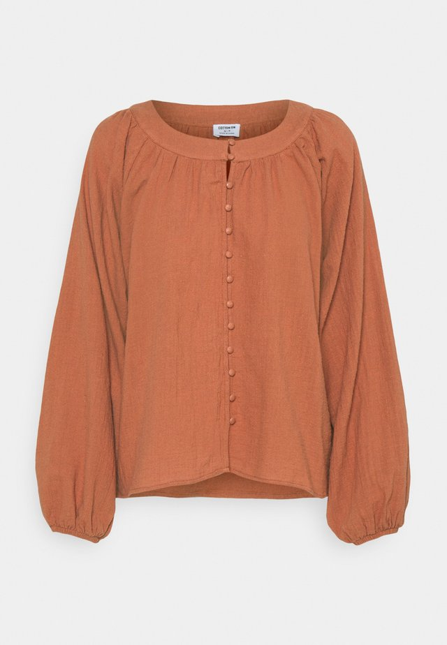 SMOCK BLOUSE - Pusero - warm bronze