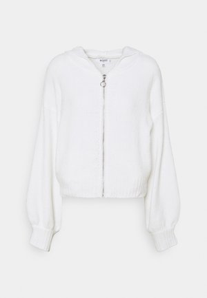 CHENILLE HOODIE - Vest - white