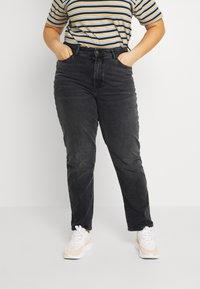 Even&Odd Curvy - Slim fit jeans - black denim - 0
