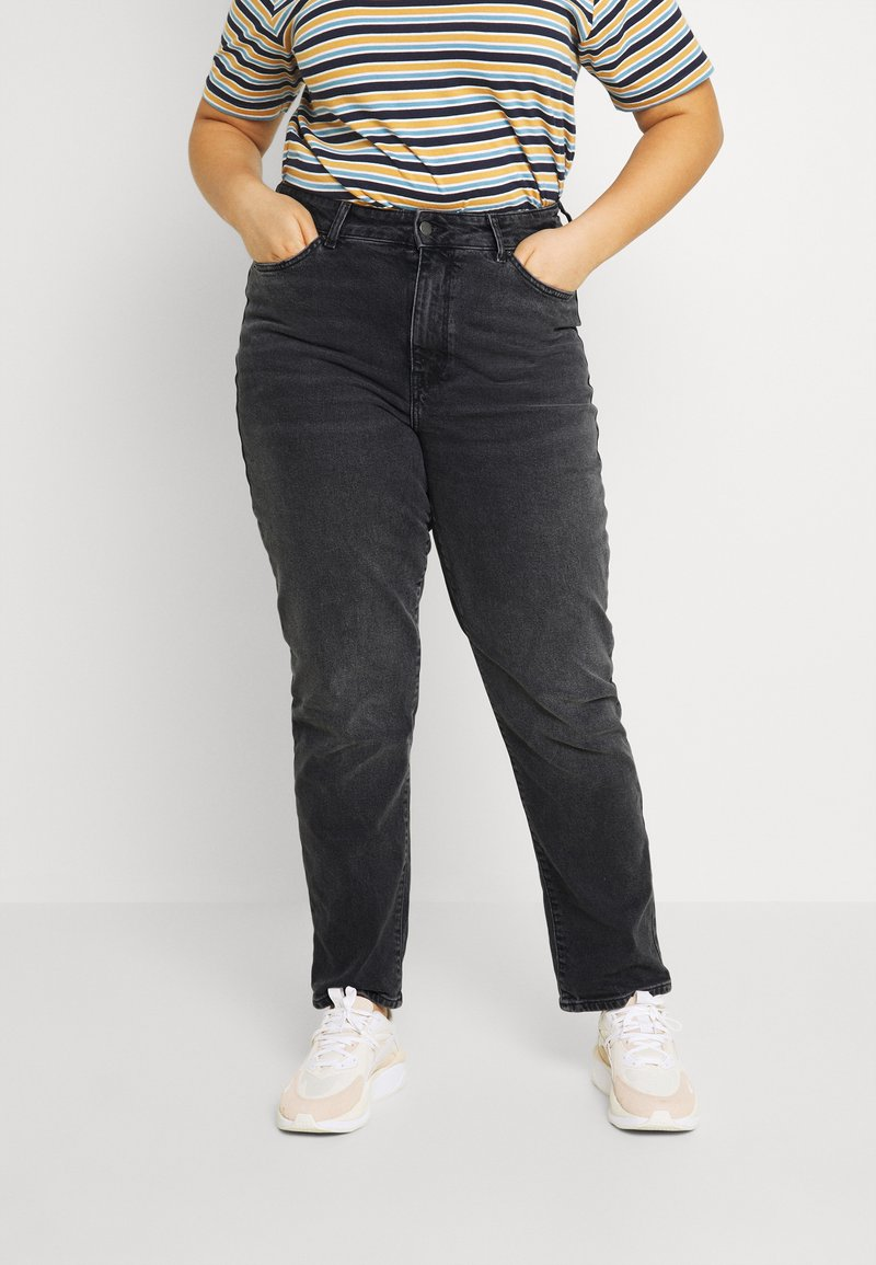 Even&Odd Curvy - Slim fit jeans - black denim
