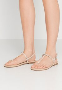 Anna Field Wide Fit - T-bar sandals - nude - 0