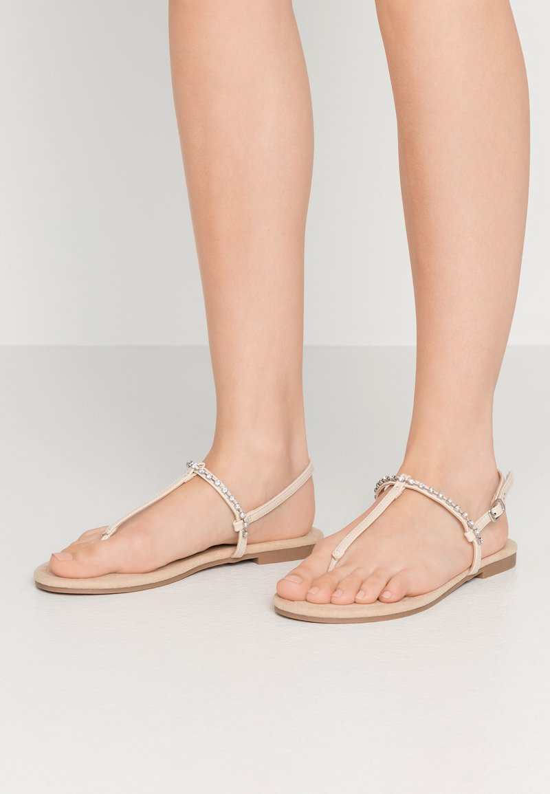 Anna Field Wide Fit - T-bar sandals - nude