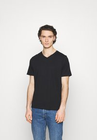 Cotton On - ESSENTIAL NECK TEE 3 PACK - T-shirt basic - black - 2
