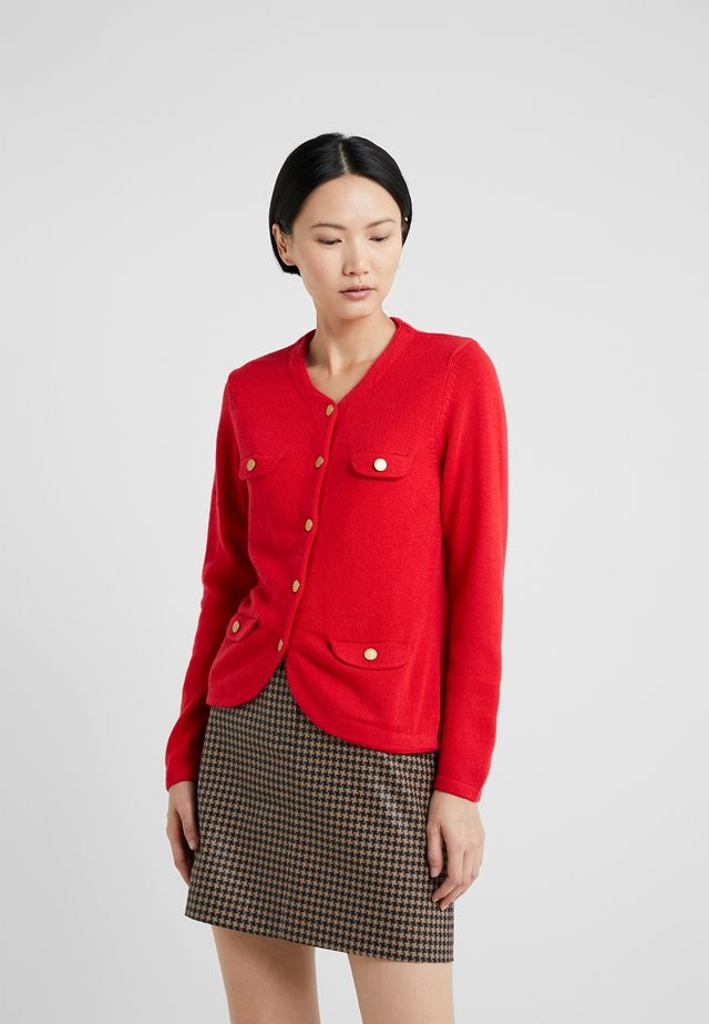 JACKET - Strickjacke - red