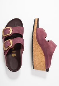 Papillio - NORA - Pantofle na podpatku - zinfandel - 3