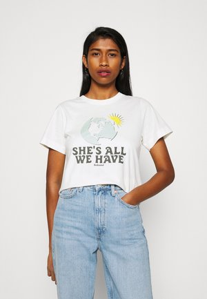 MYSEN ALL WE HAVE  - Print T-shirt - off white